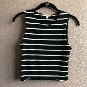Express one eleven striped crop tank